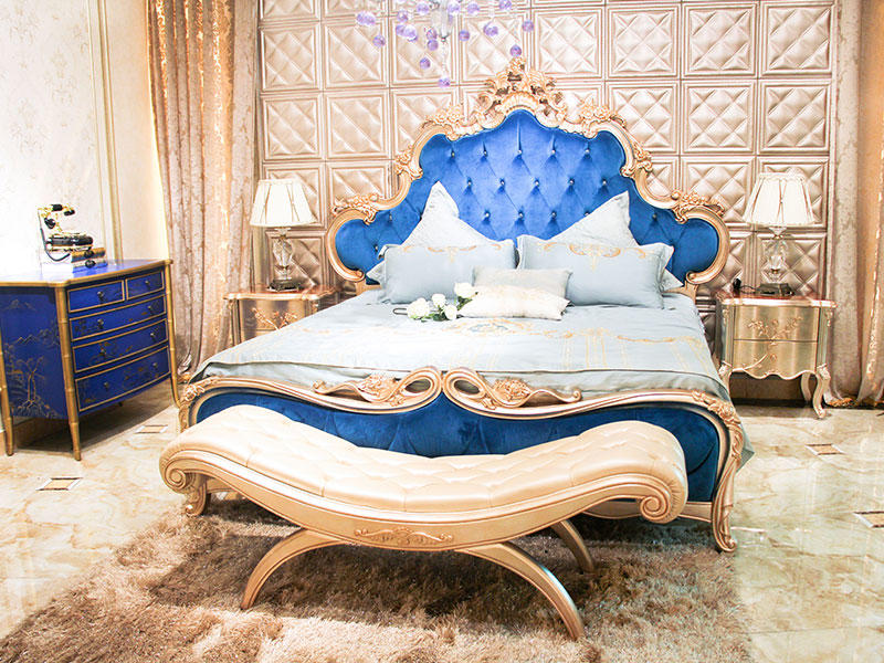 James Bond luxury king size bedroom sets factory price for home-1