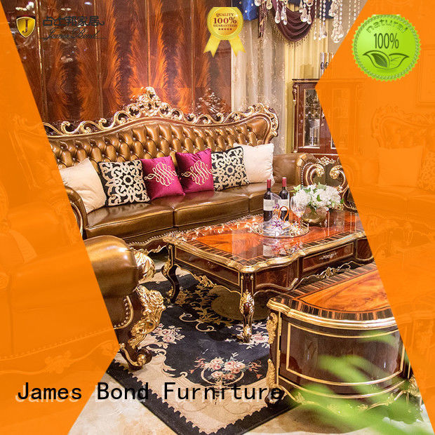 James Bond classic leather sofa factory direct supply for restaurant