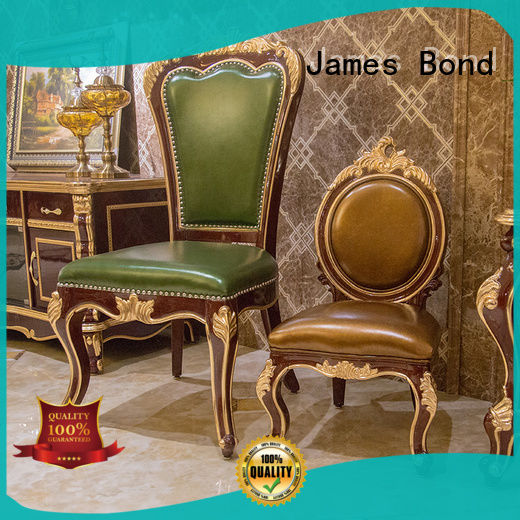 James Bond fashion traditional italian dining chairs solid wood for villa