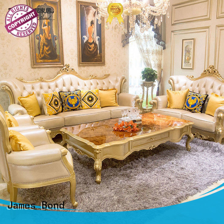 James Bond classic sofa 14k gold and solid wood White / Deep green/ Brown /JF508