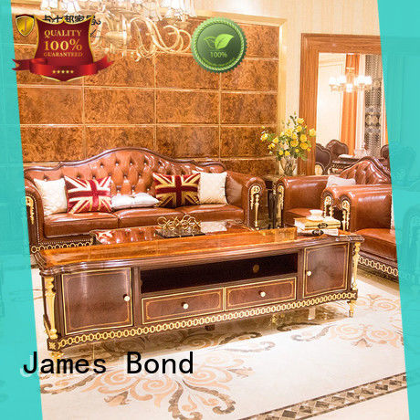 James Bond leather traditional couches manufacturer for home
