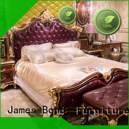 James Bond multicolor classic king size bed factory for apartment