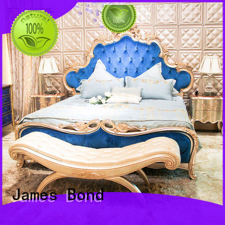 James Bond luxury bedroom sets factory for apartment