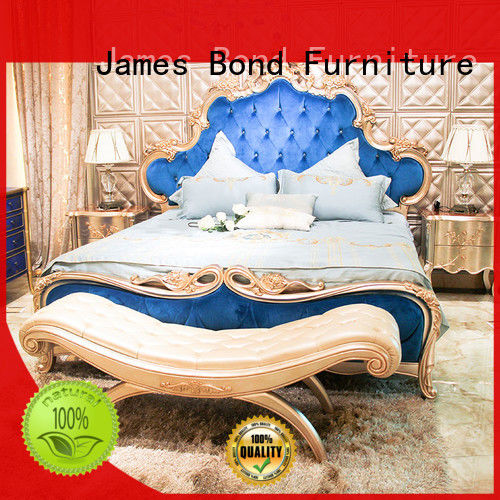 James Bond luxury king size bedroom sets factory price for home