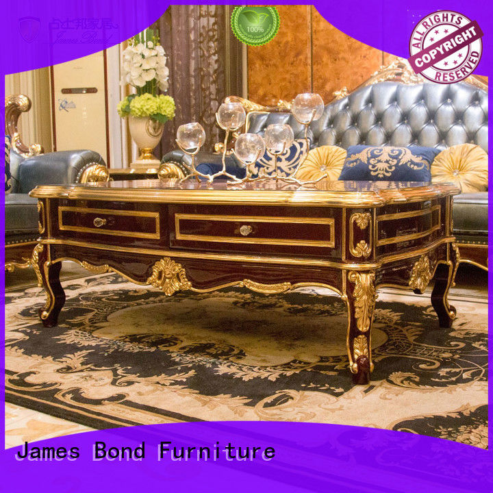James Bond contemporary traditional square coffee table for restaurant