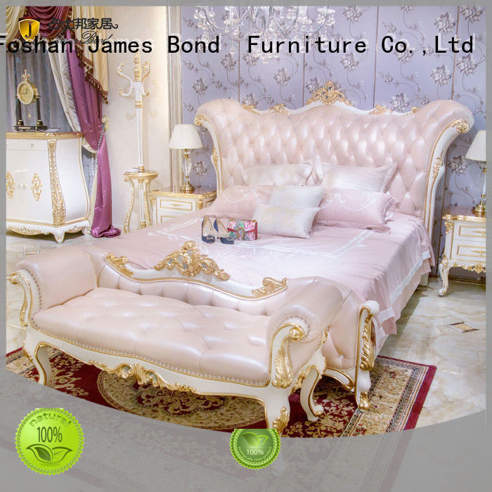 James Bond contemporary luxury king size bedroom sets from China for hotel