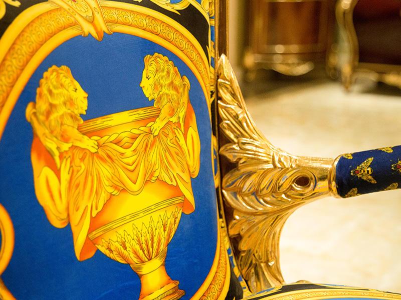 James Bond velvet neoclassic chair supplier for church-3