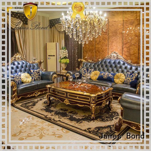 James Bond classical sofa design 14k gold and solid Sea blue A2825