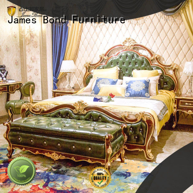 James Bond luxury bedroom furniture sets manufacturer for apartment