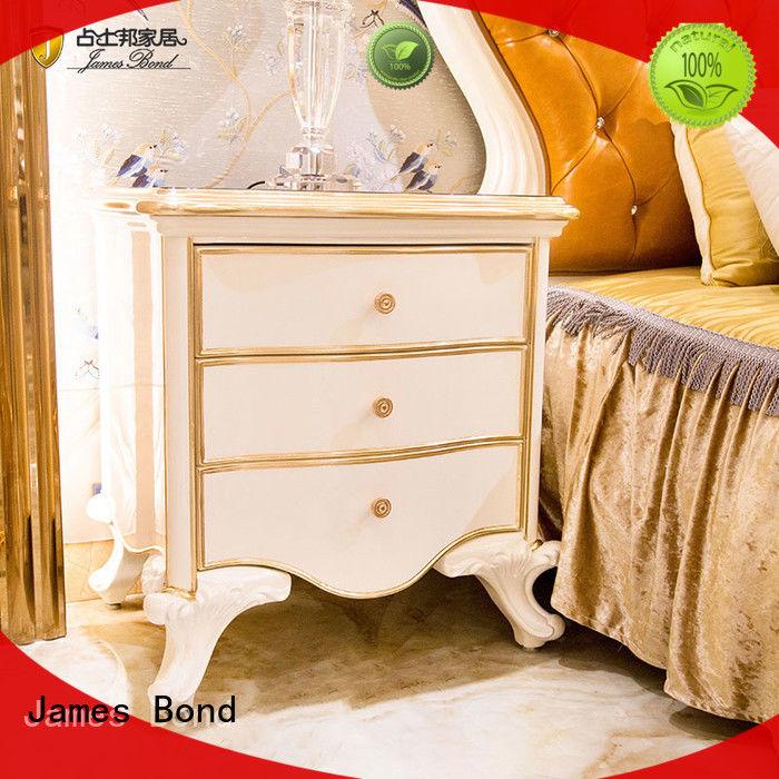 James Bond italian wooden bedside table for villa