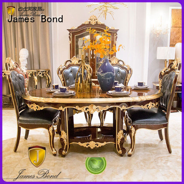 James Bond solid wood classic dining table designs customized for hotel