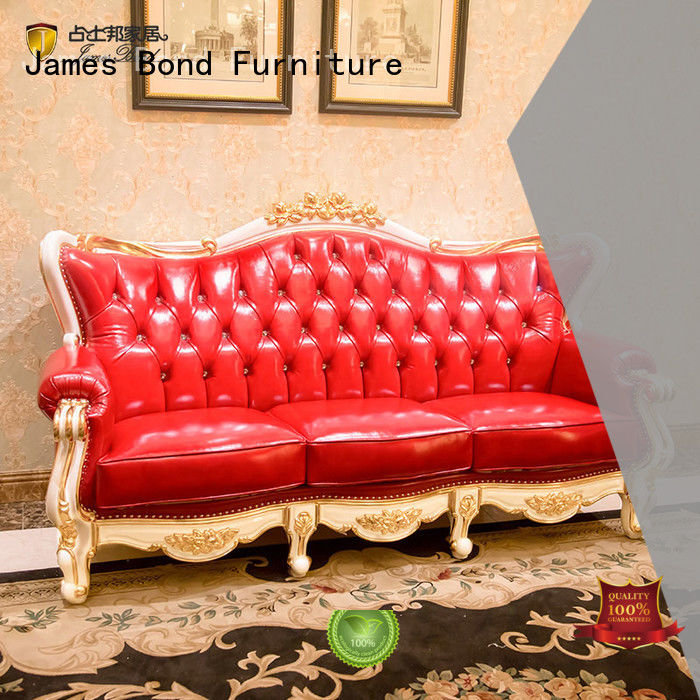 James Bond solid wood classic sofa set wholesale for guest room