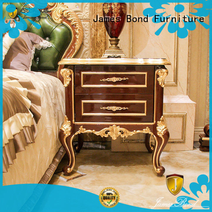 James Bond high quality furniture bedside table factory direct supply for home