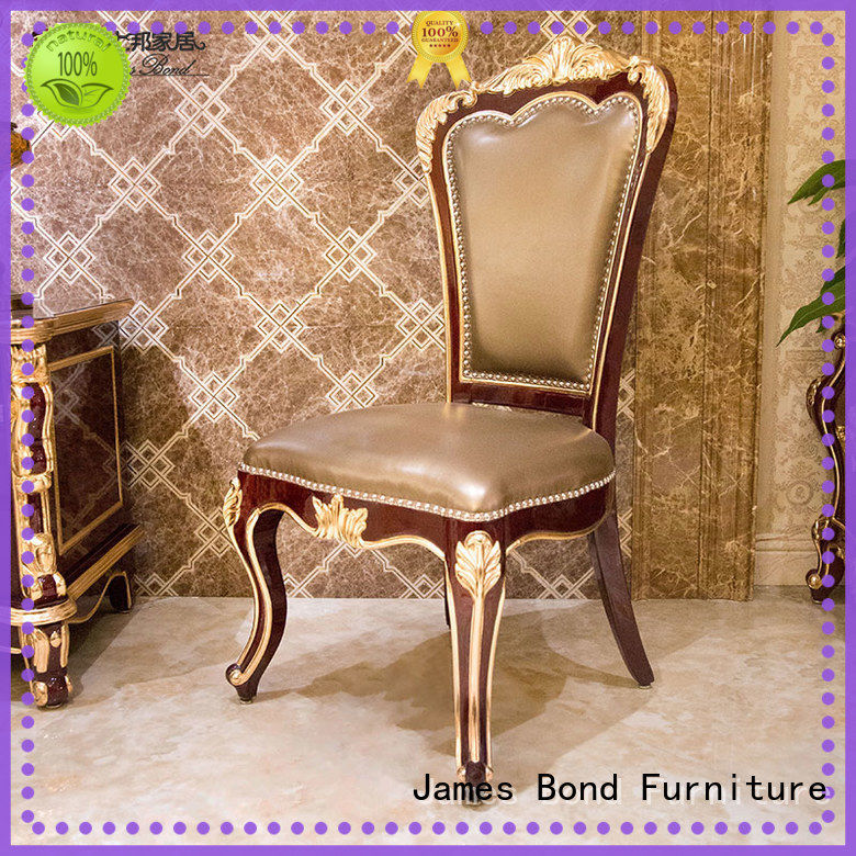 James Bond luxury classic dining room chairs factory direct supply for restaurant