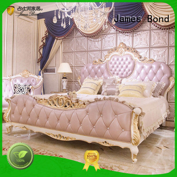 James Bond excellent luxury bedroom furniture factory price for hotel