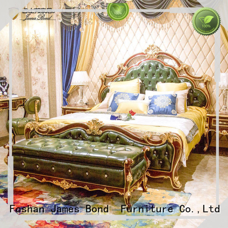 James Bond traditional bedroom furniture factory price for hotel