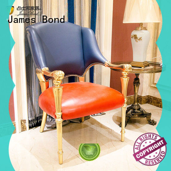 James Bond velvet classic chairs for living room factory direct supply for restaurant