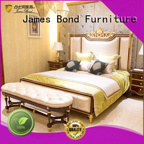 James Bond traditional bedroom sets wholesale for hotel