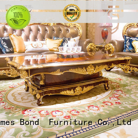 James Bond solid wood luxury coffee table supplier for guest room