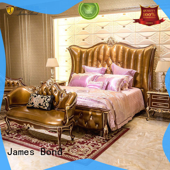 James Bond luxury king size bedroom sets factory price for hotel