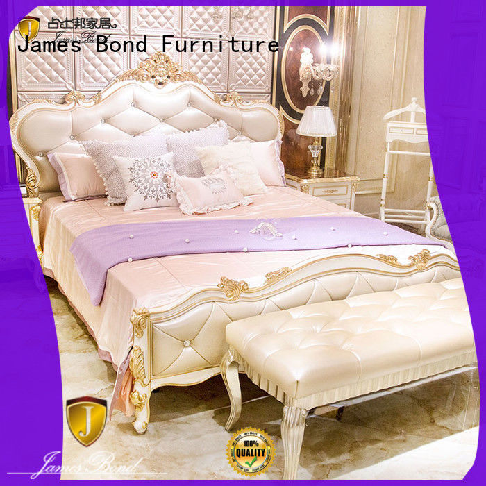 James Bond durable traditional bed designs wholesale for apartment