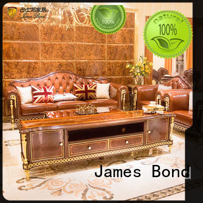 James Bond classical sofa design 14k gold and British style Bright coffee A2821