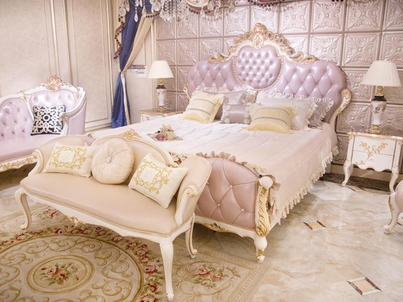 James Bond traditional bedroom furniture wholesale for villa-1
