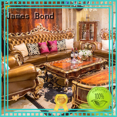 James Bond classic leather sofa factory direct supply for church
