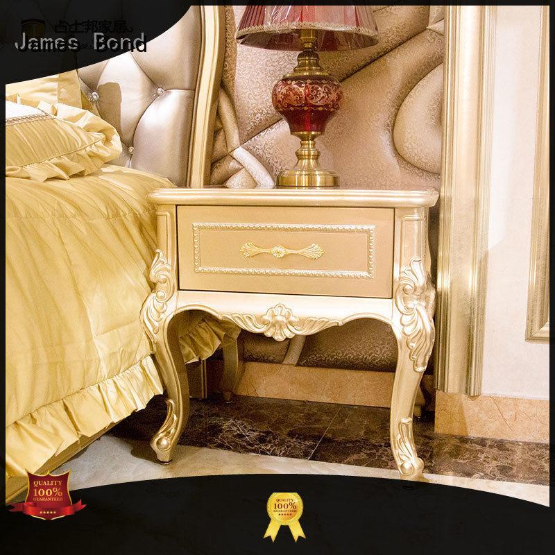 wooden bedside table for home James Bond