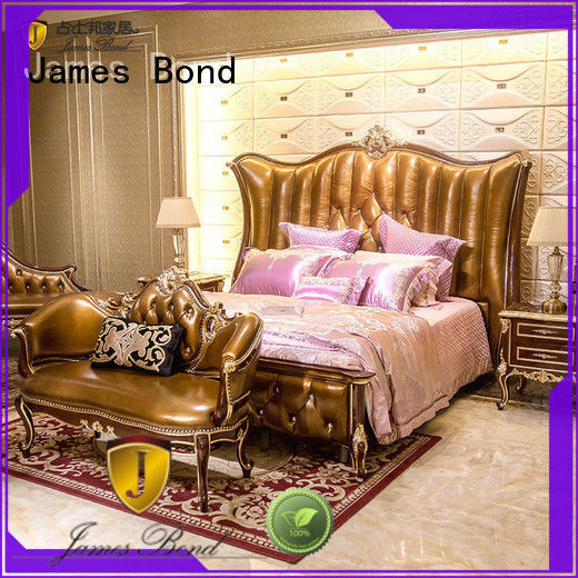 James Bond excellent luxury bedroom furniture from China for villa