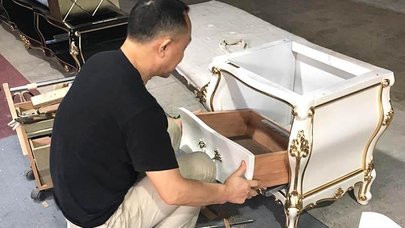 James Bond velvet neoclassic chair supplier for church-13